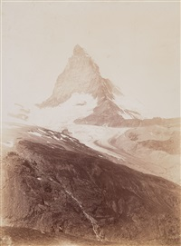 matterhorn, vom oberen riffelweg aus (matterhorn, seen from upper riffel trail) by vittorio sella