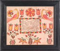 vibrant birds, pinwheels, and tulips by abraham huth