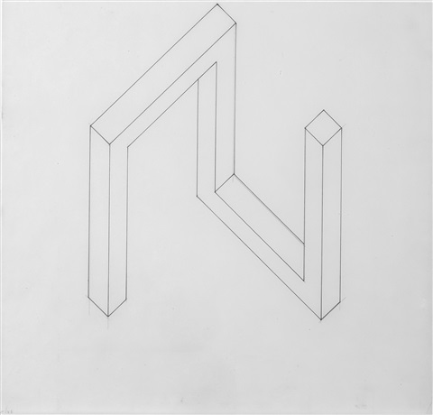 incomplete open cube 511 by sol lewitt