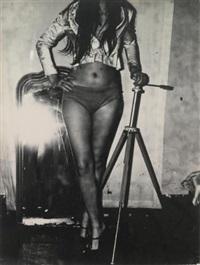 sans titre (autoportrait), sans titre (femme au miroir) et sans titre (nu)(3 works) by gerard fieret