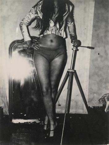 sans titre autoportrait sans titre femme au miroir et sans titre nu3 works by gerard fieret