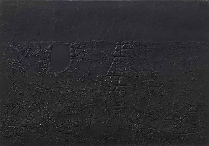 cretto nero b by alberto burri