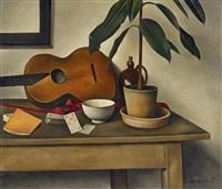 stillleben mit gitarre (stillleben vi) by alexander kanoldt