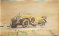 yellow-black bugatti t 30 by vilem kreibich
