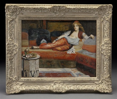 reclining odalisque by charles théodore (frère bey) frère