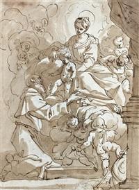 la vision de saint antoine by domenico piola