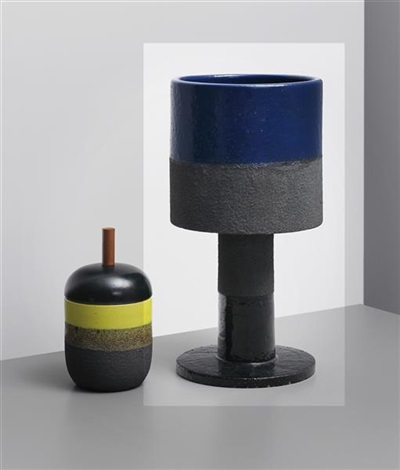 large lava vase model no 388 from the ceramiche di lava series by ettore sottsass