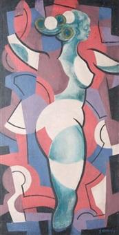 akt kubistyczny by tadeusz gronowski
