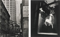 selected new york studies (italian festival, 19 rector street, and designer's window, bleecker street): two works by berenice abbott