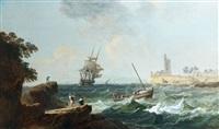 marine par temps venteux by alexandre jean noel
