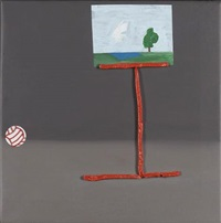 ball and easel by john chilver