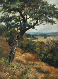 view of the valley of evesham by walter follen bishop