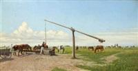 pferdegespann auf der puszta by hermann reisz