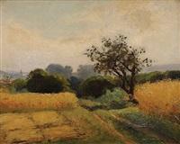 chemin dans les champs by nicholas auguste laurens