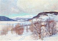 vinterlandskap från jämtland by anton genberg