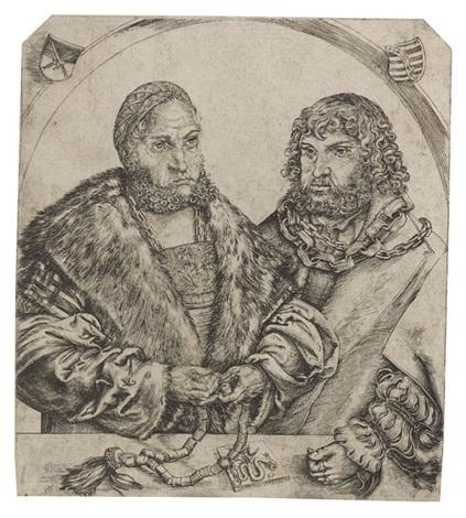 doppelporträt friedrich der weise und johann der beständige herzöge von sachsen by lucas cranach the elder