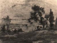 paesaggio lacustre by ermenegildo agazzi