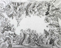 design for a ceiling decoration by antonio domenici