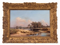 landscape by mikhail konstantinovich klodt von jurgensburg
