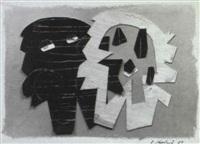composition aux deux personnages by anne korolnik