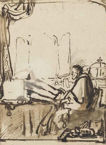 saint jerome in his study by samuel van hoogstraten