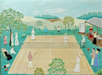 a friendly game of tennis by roma higgins