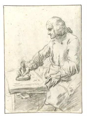 study of a printmaker by french school 18