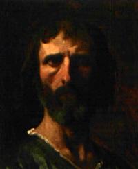étude de tête d'homme pour la glorification de saint louis by alexandre cabanel