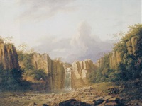 the great fall of the tees, durham by george lambert