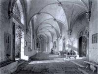 kreuzgang in einen nonnenkloster by simon quaglio