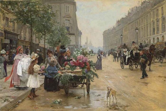 rue royale paris by louis marie de schryver