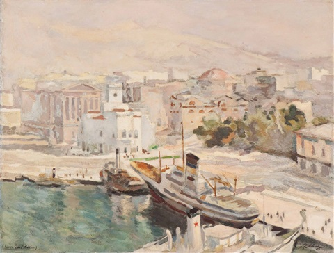 harbour on piraeus by cees bolding
