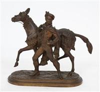 un cheval et son cavalier by louis marie moris