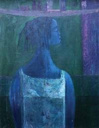 hawker in blue by yusuf grillo