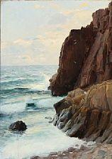 coastal scape by georg nicolaj achen
