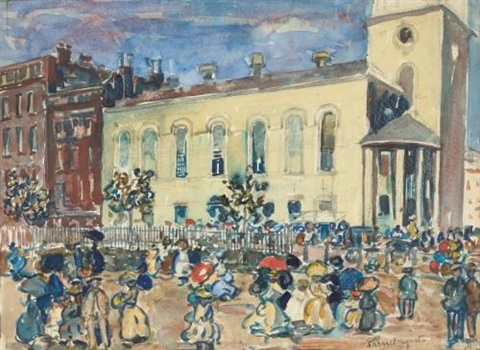 park street church boston by maurice brazil prendergast