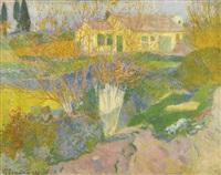les mas, environs d'arles by paul gauguin