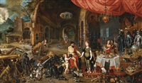 venus at the forge of vulcan by jan brueghel the younger