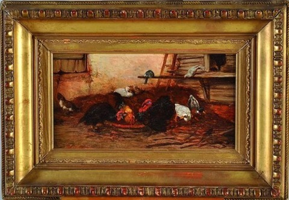scène de basse-cour by philibert-leon couturier