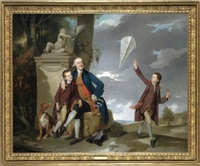 portrait of george fitzgerald with his sons george and charles by johann joseph zoffany