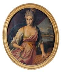 portrait de jeune femme en cérès by nicolas fouche