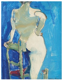 untitled (nude with chair) by william theophilus brown