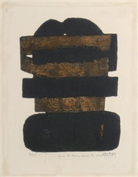 lithographie n° 18 by pierre soulages