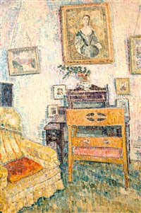 portrait over the writing desk by grace cossington smith