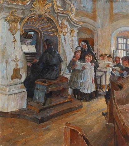 in der schloßkapelle weesenstein by ferdinand dorsch