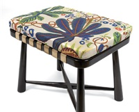 stool (fabric design by josef frank) by haus & garten