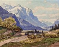 alpenlandschaft im frühling by ernst carl walter retzlaff