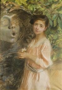 dziewczynka i rzeźba by teodor axentowicz