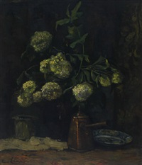 hortensias in a pot by anna lehmann