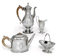 tea and coffee set (set of 4) by c.j. vander ltd